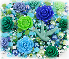 'Emeralds & Pearls' 20g Rhinestone Pearl Set Decoden Kit DIY Deco Kawaii Craft