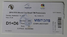Ticket for collectors World Cup q Cyprus  Slovenia 2013 in Strovolos