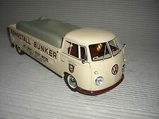 SCHUCO VW T 1 BUNKER RACE CAR TRANSPORTER 1:18