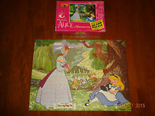 Vintage JAYMAR Disneys Alice in Wonderland 400+ Pcs Jigsaw Puzzle Missing 2 pcs