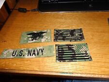 IR NWU Type II Reverse US Flag + Navy Jack Patch Set, SEAL & US Navy HOOK AOR1