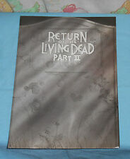 original RETURN OF THE LIVING DEAD PART II UK PRESS KIT with foldout feature
