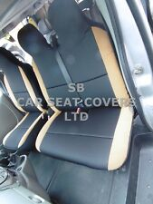 TO FIT PEUGEOT EXPERT VAN SEAT COVERS EBONY / TAN SUEDE 1S +1D