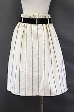 NWT $2990 Brunello Cucinelli Sequin Striped Belted Drawstring Full Skirt 42/6US