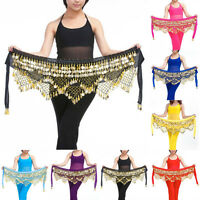 Professional 320 Silver Coins Belly Dance Dancing Hip Scarf Costume Belt Popular