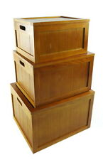 White Brown Pine Wooden A4 Paper Office Home Storage Box Kids Playroom Toy Box