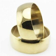 Wholesale Lot 25Pcs Stainless Steel Fashion 18K Gold Plated Rings Mix Size 8-12