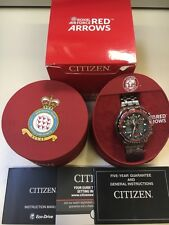 Brand New Citizen Skyhawk A-T Red Arrows Radio Controlled Watch JY0110-55E