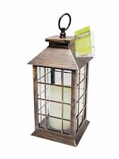 Premier Antique Gold Candle Lantern 34cm Battery Operated Rustic