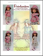 """Printanière"" Fashion Pattern for Dianna Effner's 13 Inch Little Darlings"