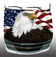 American flag Eagle Hood Wrap Wraps Sticker Vinyl Decal Graphic FLAWED