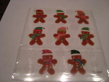 CUTE GLITTER GINGERBREAD  ASSORTED stickers/Great for Borders!