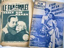 cinéma FILM COMPLET  lot 9 revues années 20 / 50