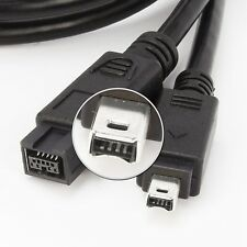 9 to 4 pin 800-400 IEEE 1394B FireWire DV iLink Cable 15 Feet FT PC MAC IMAC