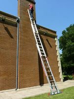 3 Section Triple Treble TRADE Extension Ladder Ladders 3.99m-7.96m FREE STAB BAR
