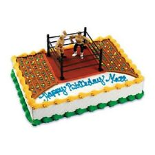 PARTY BIRTHDAY CAKE TOPPER KIT WRESTLER WRESTLING RING WWF WWE BOY FIGHTERS