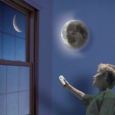 Healing Moon Lamp LED Wall Night Light White Romantic / Remote Control Kids Bed