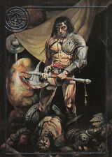 CHRIS ACHILLEOS: SERIES 1~SILVER FOIL PARALLEL CHASE CARD #9: BY THIS AXE I RULE