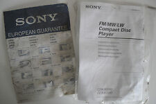 SONY CDX-R3300-R3000 INSTALLATION MANUAL ONLY.