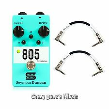 Seymour Duncan 805 Overdrive Active EQ Effects Pedal NEW w 2 Patch Cables