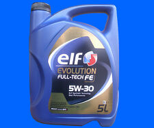 * 5 Liter 5W-30 Elf EVOLUTION FULL-TECH FE ( SOLARIS DPF ) Motoröl RENAULT 5W30