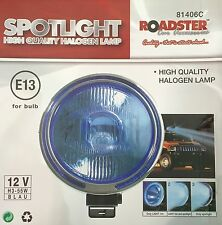"ANGEL EYE BLUE 12V CAR 1 X  9"" CHROME SPOTLIGHTS 4X4 BOAT SPOT LIGHTS TRUCK VAN"