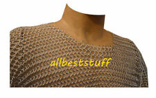 Aluminium Chain Mail Shirt Butted Chainmail Haubergeon Medieval Costume ABS