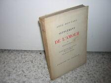 1928.supplément à l'amour de Stendhal / Abel Bonnard.envoi autographe.ex.HC