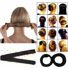US HOT WOMEN TWIST HAIR BUN MAKER DONUT STYLING BRAID HOLDER ACCESSORY FAST PIN