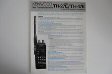 KENWOOD TH-27E/TH-47E (GENUINE LEAFLET ONLY)..........RADIO_TRADER_IRELAND.