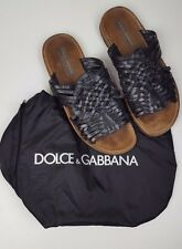 DOLCE & GABBANA Men's Slip On Leather Sandals size 7