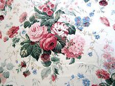 16m Vintage Sanderson Fabric STAPLETON PARK Floral Roses English Garden Pinks