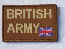 BRITISH ARMY & Union Jack 55x75mm, braun,Klettrückseite,Armabzeichen,Patch,
