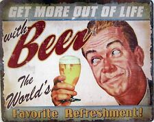 Beer The World's Favorite Refreshment Metal Sign