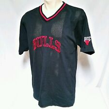 Vintage Chicago Bulls Warm Up Jersey Shooting Shirt Reebok 90's Jordan Large