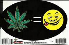 "420 STICKER DECAL ""LEAF = HAPPY FACE"" MARIJUANA HEMP THC WEED POT"