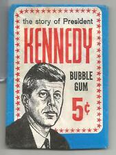 "1964 Topps ""The Story Of President Kennedy"" Trading Cards 5 Cent Wrapper"