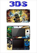 PELLE STICKER ADESIVO DECORATIVO PER NINTENDO 3DS REF 200 LEGO NINJAGO
