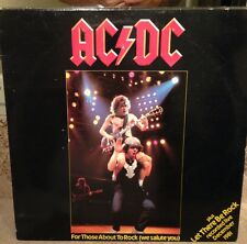 "AC/DC For Those About To Rock 12"" Single EP LP RARE"