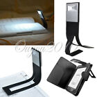 Black Flexible White LED Clip On Reading Book Light Lamp for EReader Kindle NEW