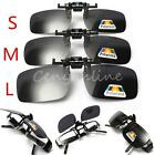Gray Lenses Polarized Flip Up Clip On Sunglasses UV400 Driving Polarised Glasses