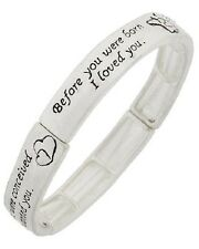 Miracle of Love Mother Child Baby Infant Birth Message Stretch Bracelet #59-I