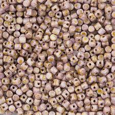 Minos ® PAR PUCA ® Perline Vetro Ceco Opaco Mix Rosa/Oro Look in ceramica (l101/5)