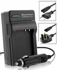 Blumax® Travel battery charger to Panasonic VW-VBN130, VW-VBN260, VW-VBN360