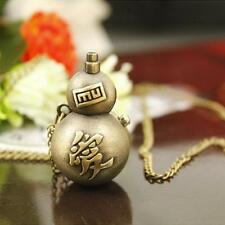 Anime Naruto Vintage Gaara Weapon Pocket Watch Necklace Pendant Toy Gift XT
