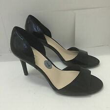 NEW! NINE WEST INSHINE BLACK PATENT HEELS STILETTOS PUMPS SANDALS SHOES 7 37 $69