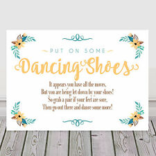 Yellow Dancing Shoes Tired Feet Wedding Sign for Flip Flop Basket 3 FOR 2 (Y10)