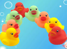 One Dozen (12) Colors Rubber Duck Duckie Baby Shower Birthday Party Favors Toys