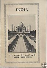 India - Land of Vast and Varied Resources 1930 Indian Trade Commission / Photos