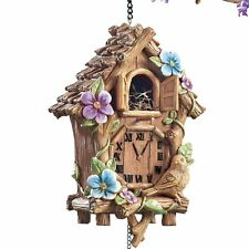 UNIQUE HANGING BIRD HOUSE BIRDHOUSE CUCKOO CLOCK YARD LAWN DECOR NEW